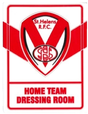 Home Team Dressing Room Door Plaque