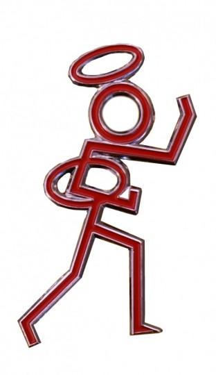 Stickman Figure Car Badge