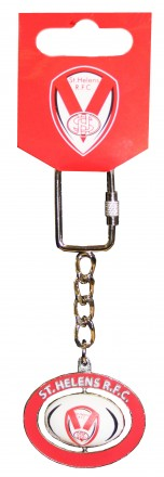 Spinning Rugby Ball Keyring