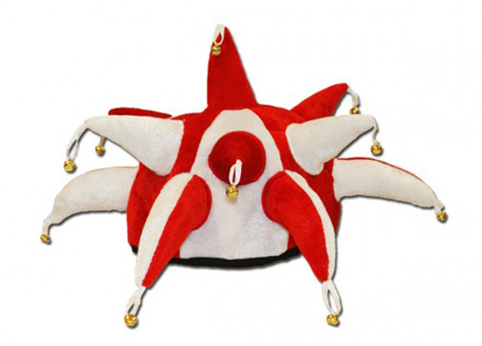 Red & White Jester Hat
