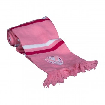 Embroidered Pink Scarf