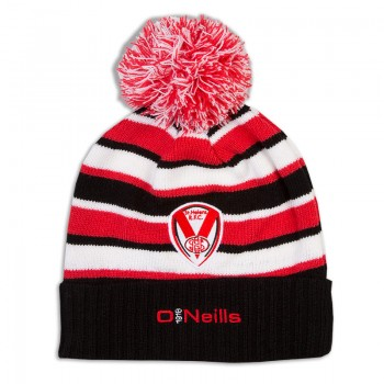 2018 Kids Bobble Hat Black/Red/White