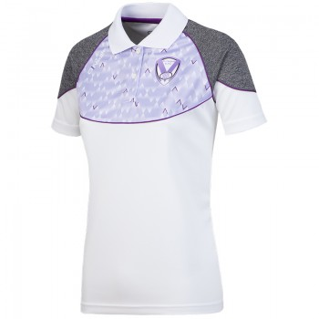 2018 Ladies Polo White Lilac