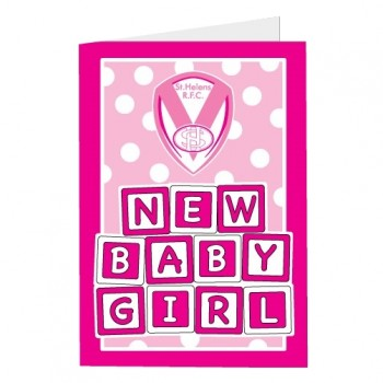 Saints Baby Girl Card