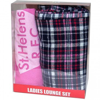 Ladies Pink /Check Pyjamas
