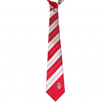 Striped Tie Red