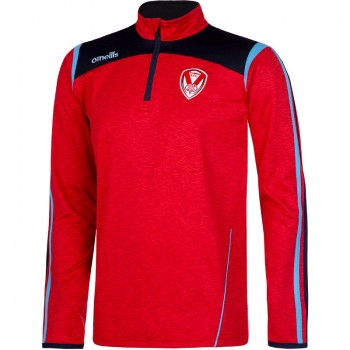 Halo Half Zip Squad Top Red Marl
