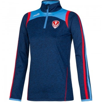 Ladies Halo Half Zip Squad Top Navy