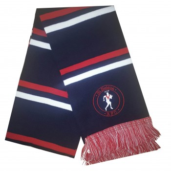 Embroidered Navy/Red Scarf