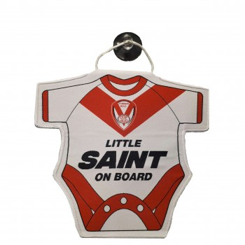 Little Saint on Board Shaped Hanger