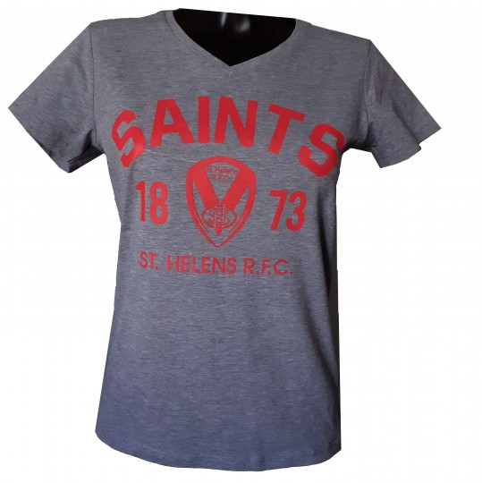 Ladies Collegiate V-Neck T-shirt