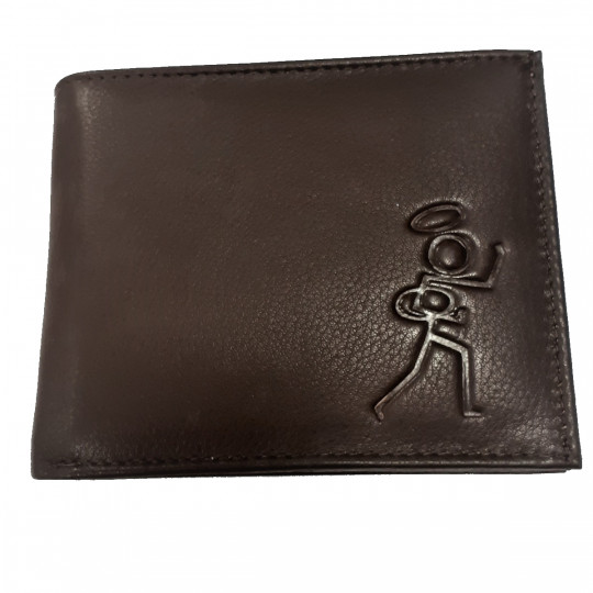Stickman Leather Wallet Brown