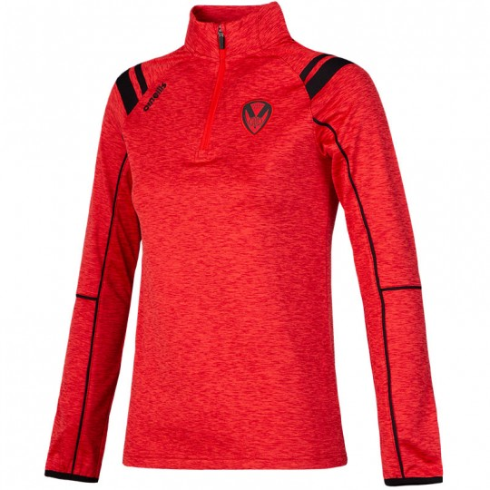 2020 Targon Ladies Half Zip Squad Top Red