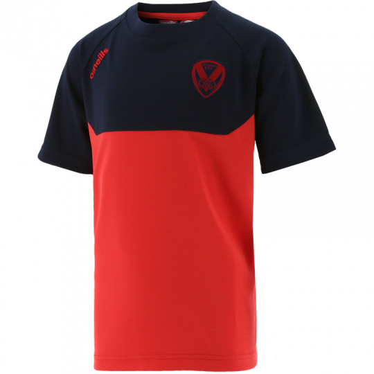 2021 Kids Perry T-Shirt Red/Navy