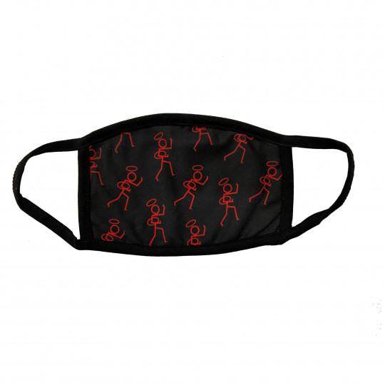 Stickman Face Covers Black