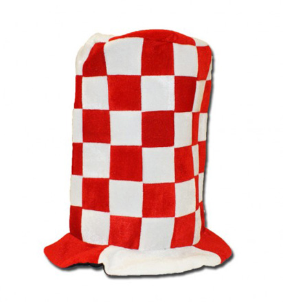 Red & White Topper Hat