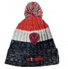 Bowen Kids Bobble Hat Navy/Red