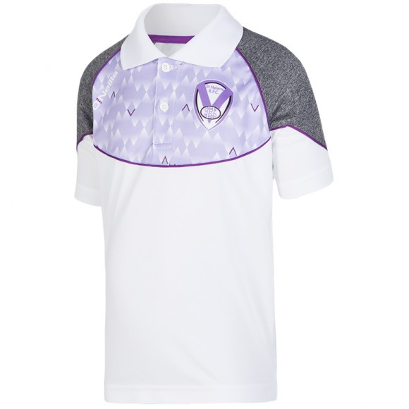 2018 Girls Polo White Lilac