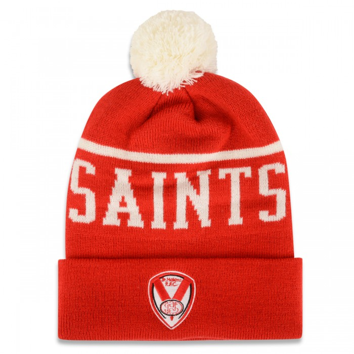 SAINTS Text Bobble Hat