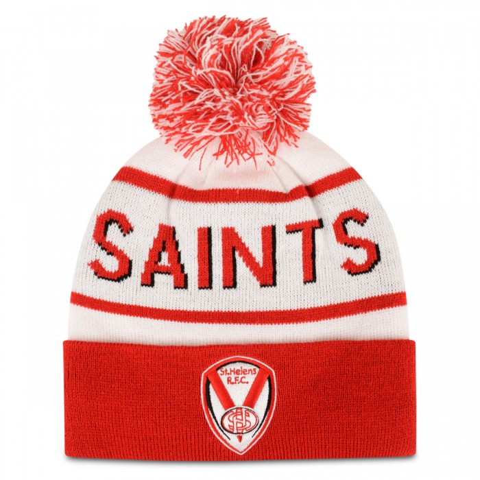 White/ Red SAINTS Text Bobble
