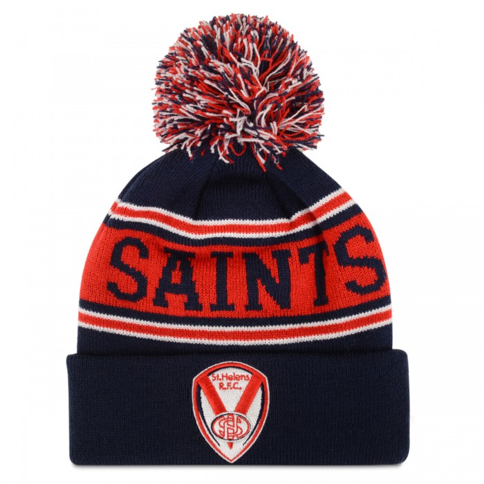 Kids Navy & Red SAINTS Bobble Hat
