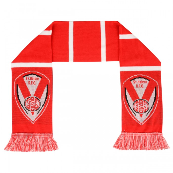 Jacquard Scarf Red/White
