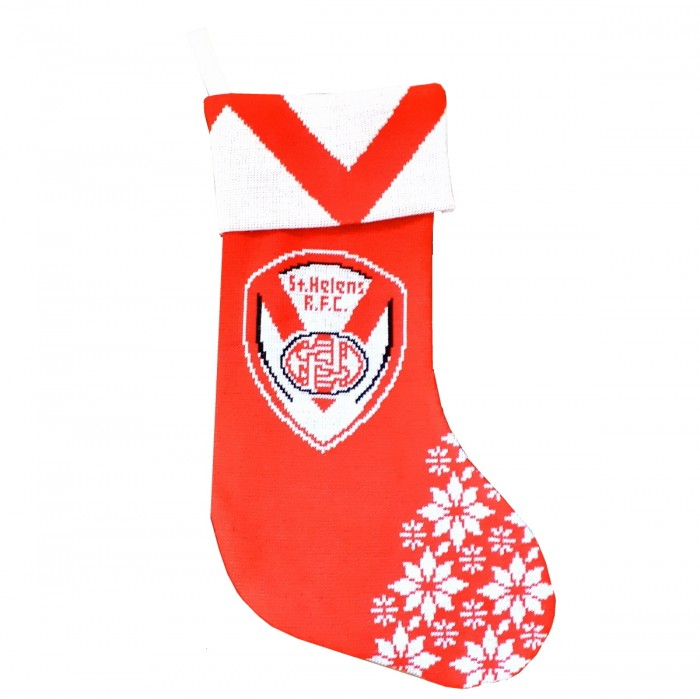 Saints Knitted Xmas Stocking