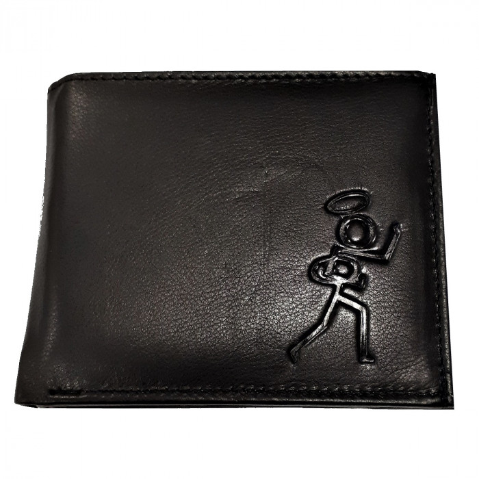 Stickman Leather Wallet Black