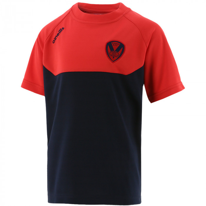 2021 Kids Perry T-Shirt Navy/Red