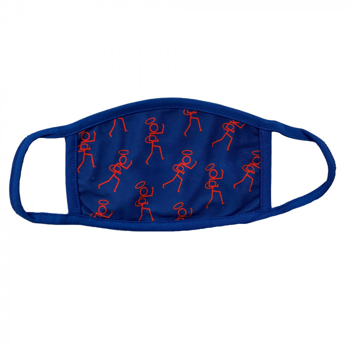 Stickman Face Covers Blue